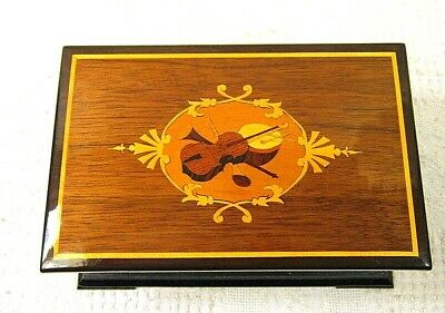 Vintage Reuge Thoren's Music Box Case Only In Box  - Swiss - New Old Stock -