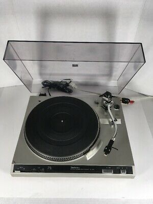TECHNICS SL-220 Turntable with Shure Cart Tested Working