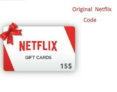 Netflix Gift Card $15 * 1- 2 simultaneous connections