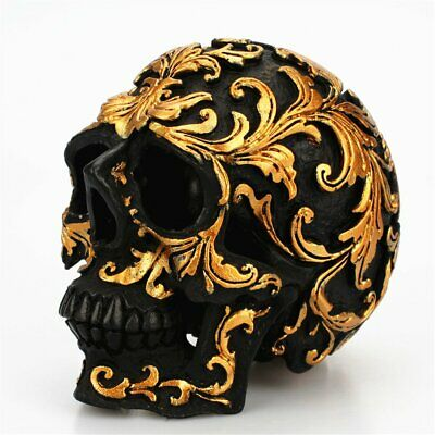 Resin Small Skull Head Ornaments for Bar Home Decoration Desktop Gift AZ