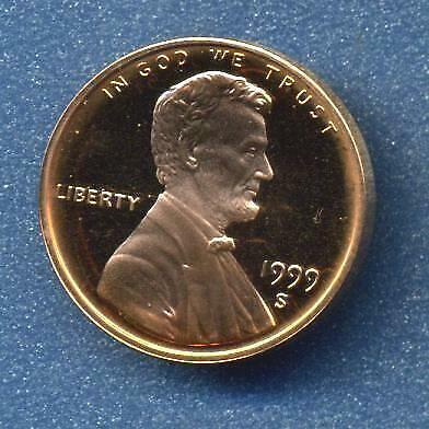 1999-S Lincoln Cent Proof, U.S.Mint Issued