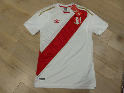 7e62ccb740f NWT Umbro 2018 World Cup Peru White Home Jersey (Men Size Medium or Large)
