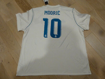 87a70fe1e NWT Adidas 2017/18 Real Madrid #10 Luka Modric White Home Jersey (Men