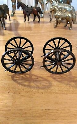 Set of Four Cover wagon Horse Clock Wheels. With Mounting screws  Parts