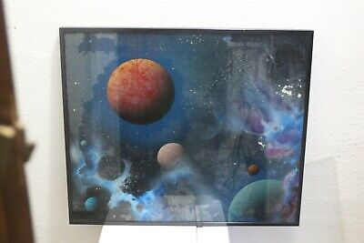 Two Dave Archer Reverse Glass Artist Damaged Paintings
