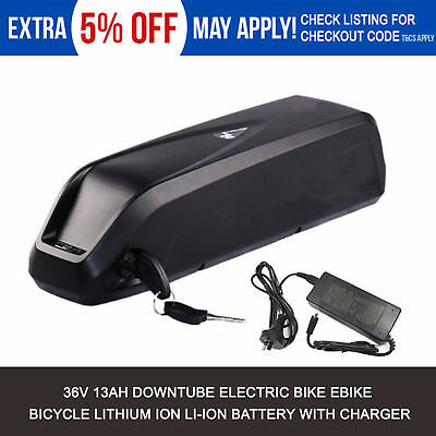BMS 36V 13Ah Lithium Battery for Electric Bicycles Li-ion E-Bike + Charger