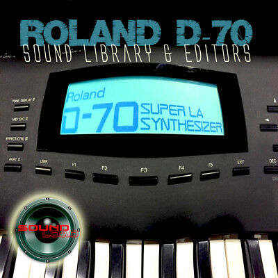 for ROLAND D-70 Large Original Factory and New Created Sound Library & Editors