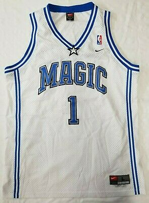 0c69cb35e Tracy McGrady Orlando Magic NBA Nike swingman home jersey men sz L +2 length