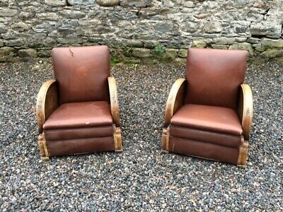 A Pair of Vintage Art Deco Armchairs