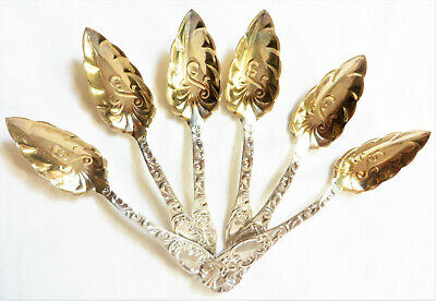 Antique Towle Gold Washed Sterling Silver Spoons, 6 pcs