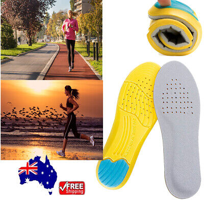Pair Unisex Memory Foam Insoles Inner Running Sole Slippers Shoe-Pad Feet Pads