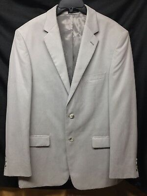 Mens Andrew Fezzia 2 Button Lt Gray Sports Jacket Blazer Size 42L