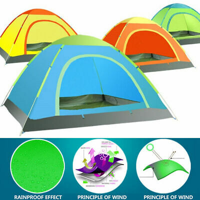 3-4 Person Camping Tent Waterproof Room Outdoor Hiking Backpack Fishing Pop up