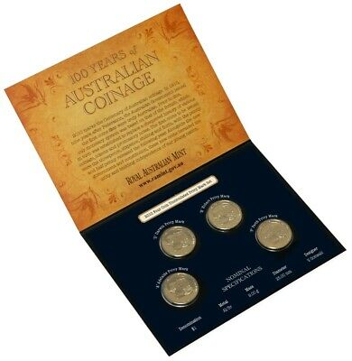 2010 Four Coin Privy Mark Set 100 Years of Coinage