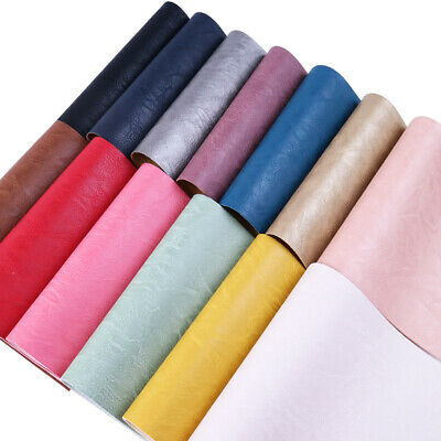 Plain Color Bump Texture Faux Leather Sheet 20*34 CM for Sewing Crafting