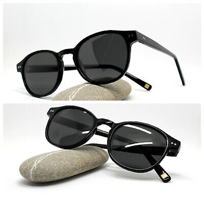 Sunglasses Man Woman Classic Oval round Acetate Black Lens Polarized