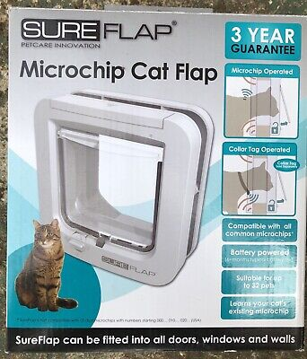 SureFlap Microchip Cat Flap with Mounting Adaptor (for Double Glazing If Needed)