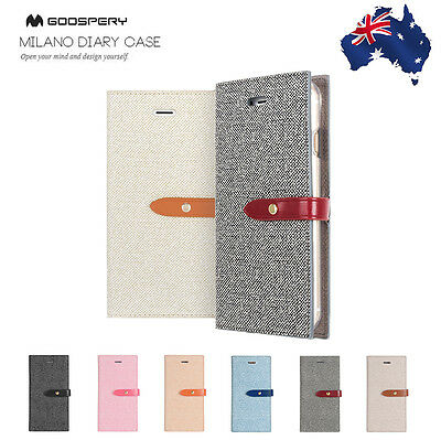 Goospery Leather Flip Card Slot Wallet Case For Samsung Note 8 S8 Plus S7 Edge
