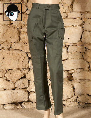 FRENCH ARMY SURPLUS LADIES FATIGUE TROUSERS - UK 6 petite 8 - NEW - (Q)