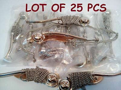 Lot Of 25 Nautical Antique Brass Nickel Boatswain's Pipe Bosun Whistle Key Chain