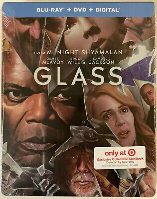New Glass Blu Ray Dvd Digital Target Exclusive Steelbook Cover Art By Alex Rose