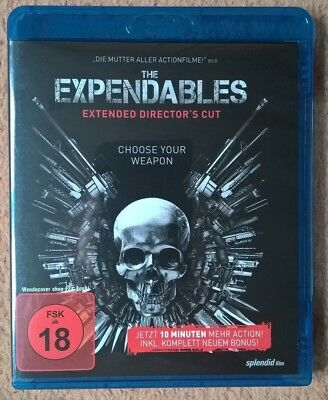 The Expendables Extended Director's Cut Blu Ray Uncut Sylvester Stallone