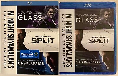 New M. Night Shyamalans Eastrail 177 Trilogy Blu Ray Walmart Exclusive Slipcover
