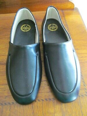 f80de5a61 LB EVANS MENS Slipper Duke Oprah 2751 Slip On Black Leather Size 9.5 ...
