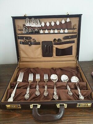 RODD 'Balmoral' vintage silver plated 44 piece cutlery set setting for 6 people