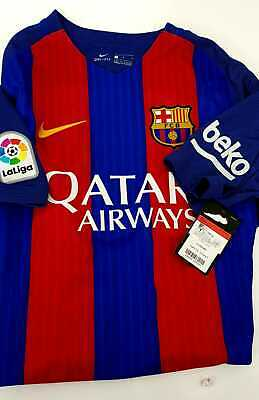 be7594dcf9d FC BARCELONA NIKE Home Mens Jersey 2016 2017 Football Soccer Club ...