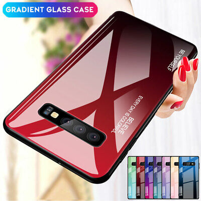 Slim Gradient Tempered Glass Case Cover for Samsung Galaxy S10 S9 S8 Plus/Note 9