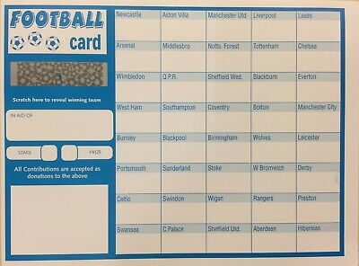 40 football team fundraising scratch cards - 25 or 50 pack