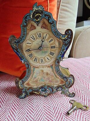 VINTAGE Late 19th/Early 20th Century Heavy Brass Clock French Make 12432