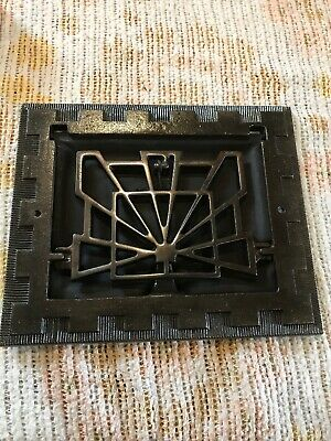 J 12 Antique Deco wall mount heating grate 95 8 x 11.5