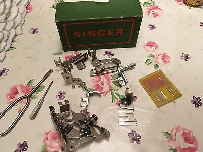 singer sewing machine accessories and Box