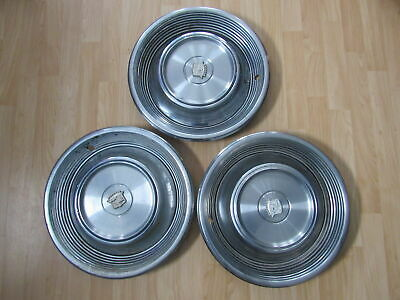 "Vintage Hubcap 1968 1969 68 69 Cadillac Fleetwood Lot Of 3 16"" X3-1903"