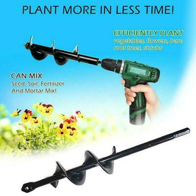 Yard Earth Irrigating Planting Auger Spiral Drill Bit Dig Hole For Bulb Pla A0Z7