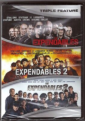 The Expendables 1, 2 & 3 - DVD Movie Triple Feature Collection BRAND NEW