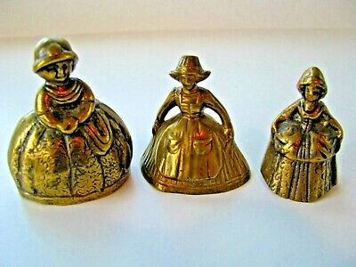 Antique Solid Brass Bells Peerage England 3 Bells - Beautiful tones - Lovely