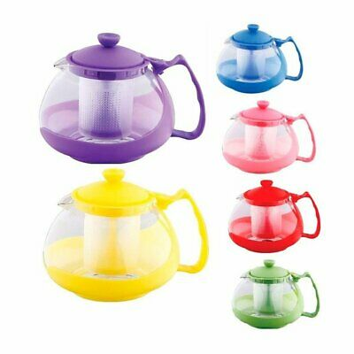 Glass Teapot Tea Pot With Infuser Strainer Plunger Filter Heat Resistant 750ml