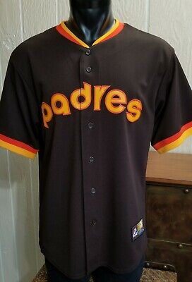 363829c569b MLB San Diego Padres Stitched Cooperstown Collection Baseball Brown Jersey  Sz L.