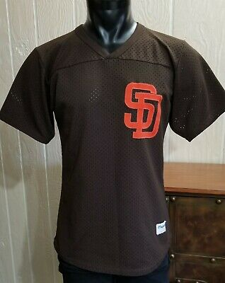 3fce186c Vintage MLB SAN DIEGO PADRES Baseball Majestic Brown Stitched Pullover  Jersey M.