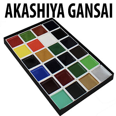 Akashiya Gansai Watercolour Paint Sets 12 or 24 set Traditional Japanese