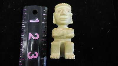 Pre Columbian Mayan Stone seated figurine-Antique Statue