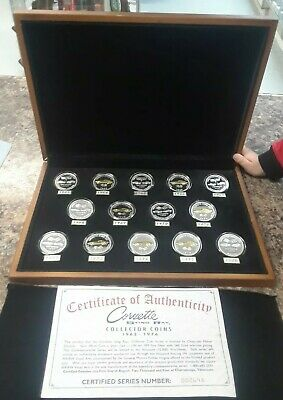 Corvette Sting Ray Coin Set With Wood Case 1963-1976