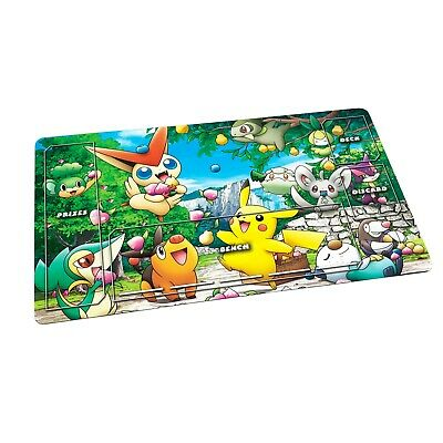 Pokemon Playmat TCG Fabric Rubber backed - Card Game - Placeholder Overlay