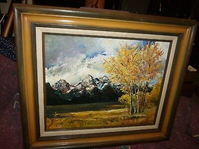 """""""Autumn in the Mountains"""" oil painting by M.H. Rochelle == Southwestern art"""