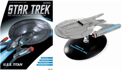 Eaglemoss Star Trek USS Titan Captain William T. Riker With Collector Magazine