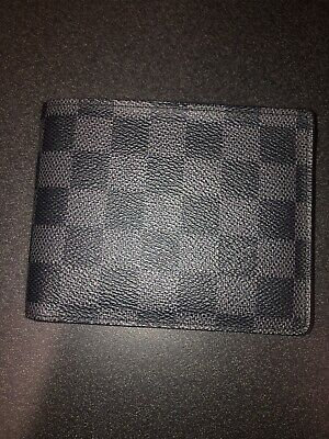 262bea80665f Louis Vuitton Multiple Wallet Damier Graphite Black Grey - Lightly Used