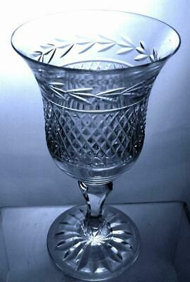 One Georgian Crystal Cut Glass Wine Goblet William Pattern Perfect 16cm Tall